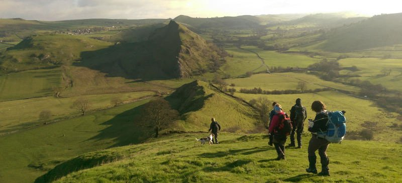 Walking on Chrome Hill and Parkhouse Hill Peak District