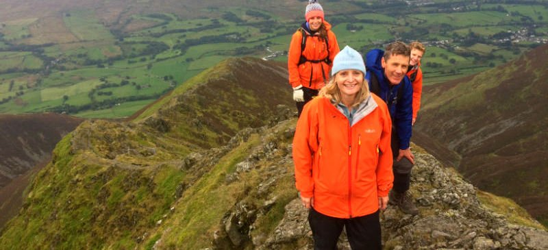 Image of four walkers in the Lake District
