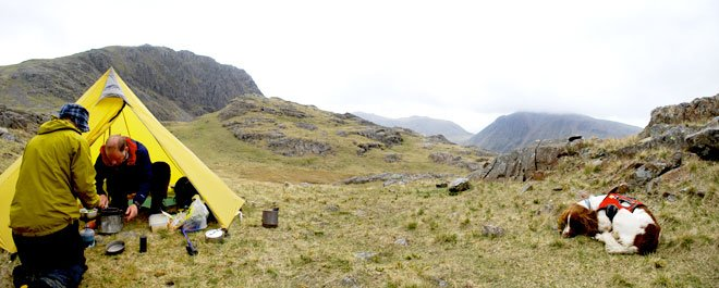 Wild camping on Scafel Pike - Guided Walking Weekend