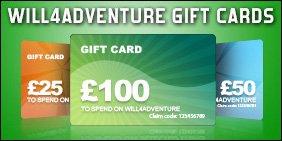Will4Adventure gift vouchers