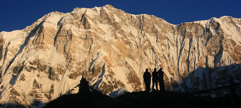 Annapurna Base Camp trek - view from base camp