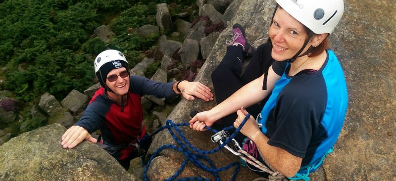 Rock climbing courses in the Peak District with Will4Adventure