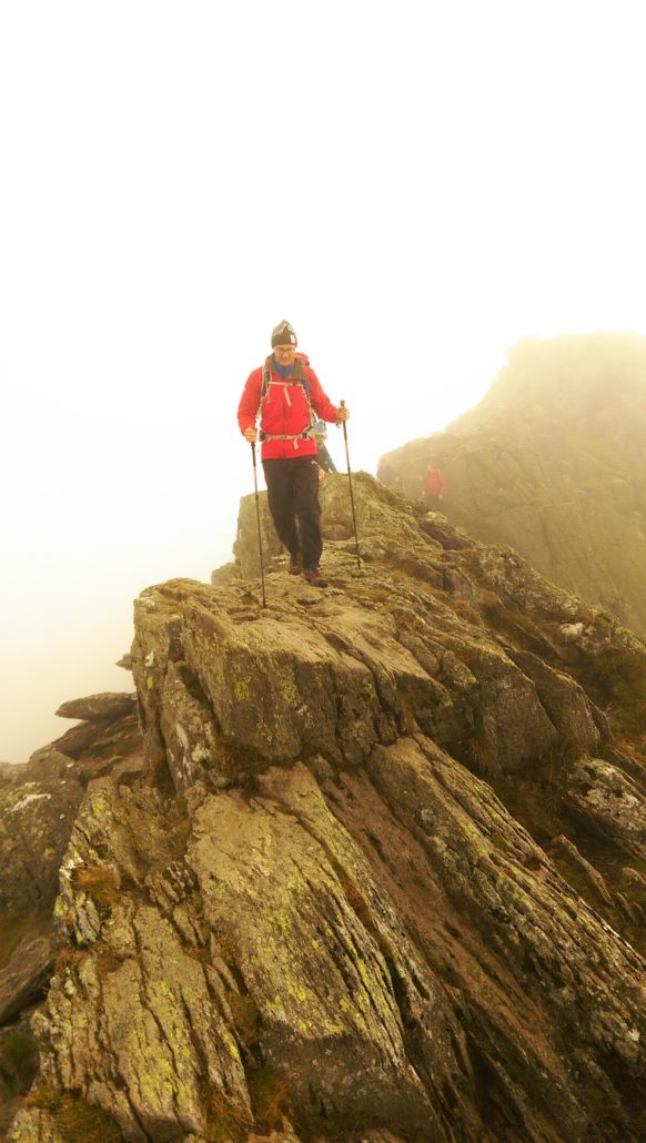 Lake District scrambling on Striding Edge