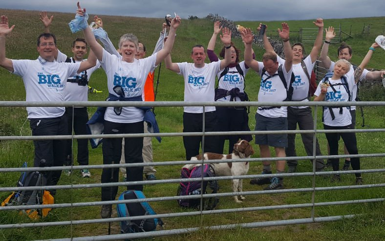 University of Sheffield Big Walk 2017 in the Peak District