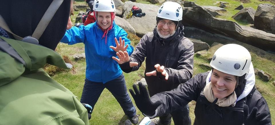 Image showing three people enjoying an activity on Will4Adventure Fear of Heights course