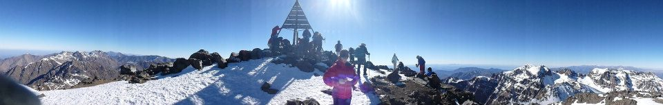 Panoramic shot taken from the summit of Jebel Toubkal