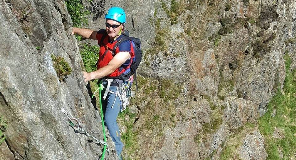 Rock climbing in the Llanberis Pass