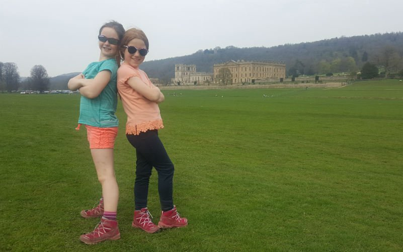 On Challenge4Charity 2018 posing in front of Chatsworth House